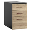 Vanta 3 Drawer Desk High Pedestal