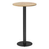Vanta Circular Poseur Table with Column Base Leg