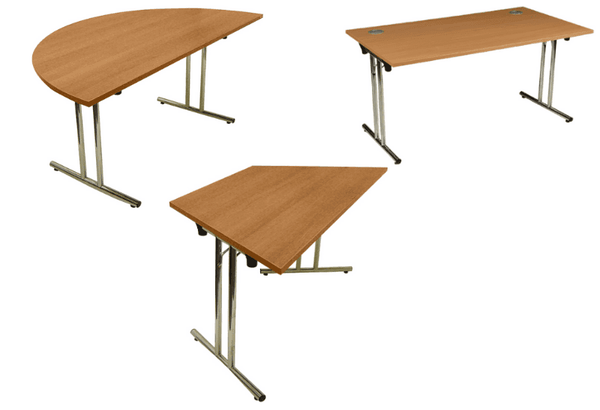 Folding Conference/Meeting Tables (5 colours + 3 shapes)  — Kit Out My Office - 1