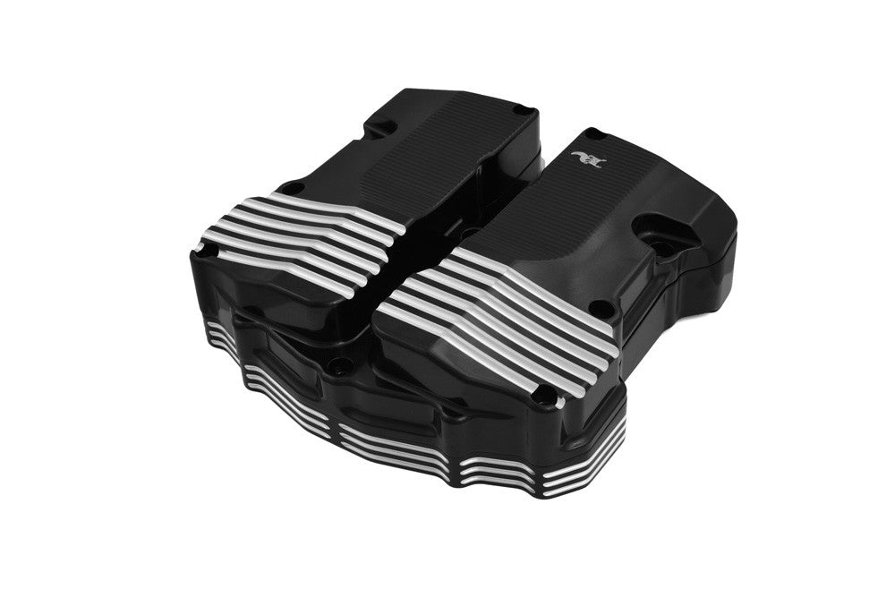 Vanquish Rocker Covers, Black Machine, Milwaukee-Eight