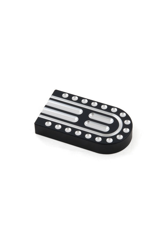 Small Brake Pedal, FXST, Black/Machine Cut