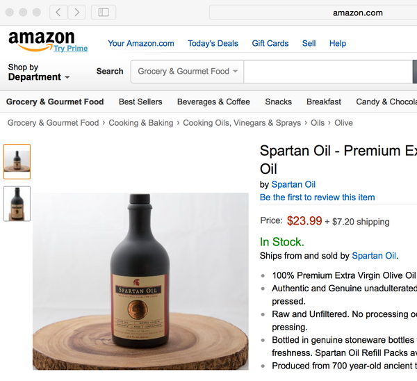Spartan Oil on Amazon.com