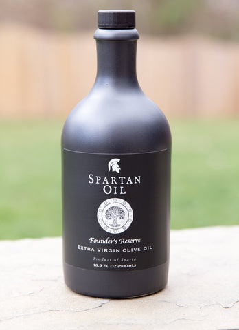 Spartan Oil Founder's Reserve Premium Extra Virgin Olive Oil - Stoneware Bottle