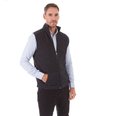 Mens Possum/Merino Full Zip Gilet