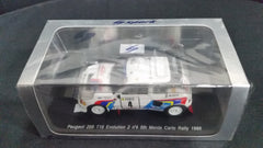Spark 1/43 Peugeot 205 T16 Evolution 2 #4 5th Monte Carlo Rally 1986