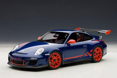 Autoart 1/18 Porsche 911 (997) GT3 RS 3.8 (Blue W/ Red Stripes)
