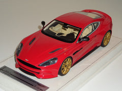 Tecnomodel 1/18 Aston Martin Vanquish 2013 Ferrari Red with Gold Rims