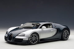 Autoart 1/18 Bugatti Veyron Super Sport (Dark Blue / Silver Doors & Side Panels)