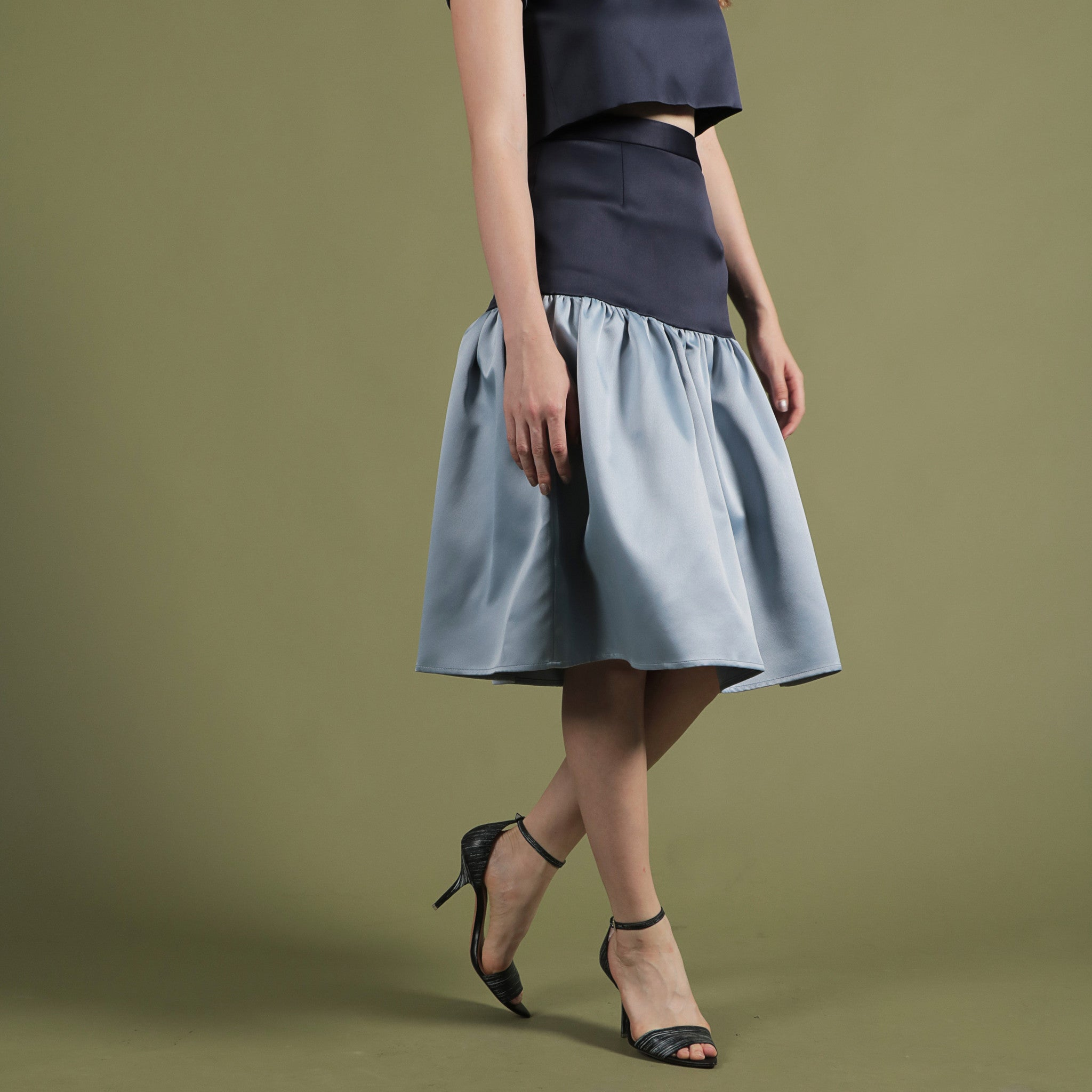 NOIR BY SOIGNÉ<br> DROP WAIST SKIRT