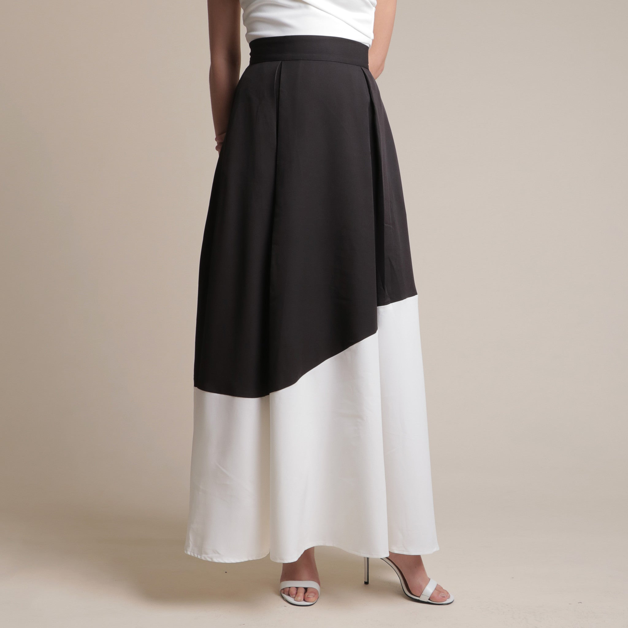 BI-COLOUR MAXI SKIRT