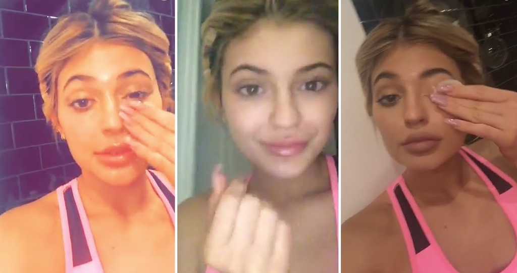 Kylie Removing Makeup
