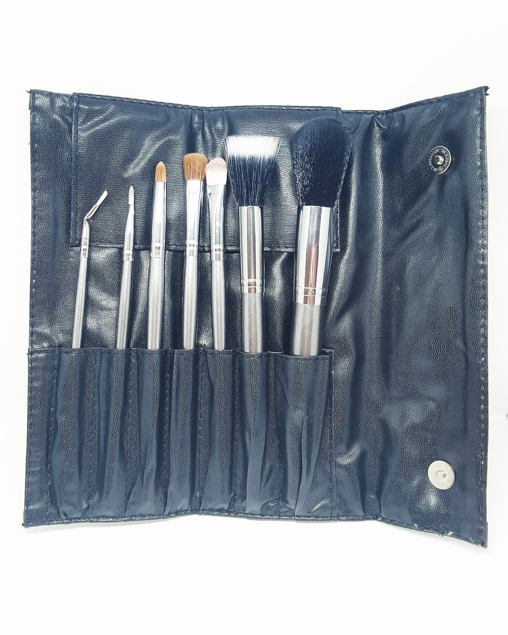 Personalized Gunmetal Snake Skin Brush Set