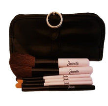 Pink Buckle Travel Brush Set