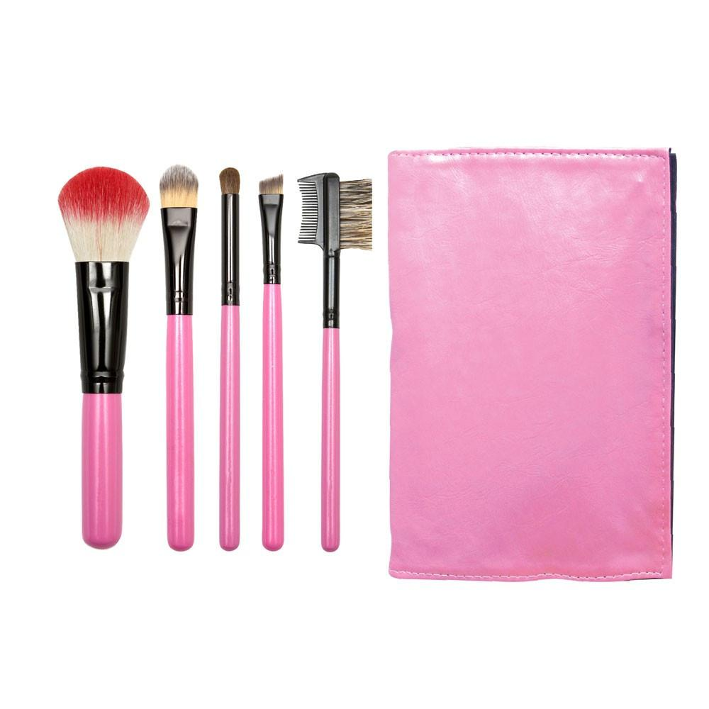 Personalized Travel Pink Makeup Brush Set