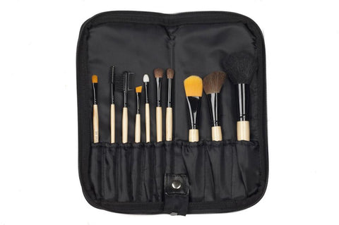 Ten Piece Natural Brush Set - Personalzied