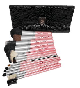 Perfectly Pink Snake Skin Brush Set