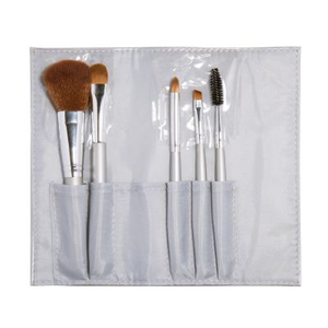 Silver Flat Brush Set