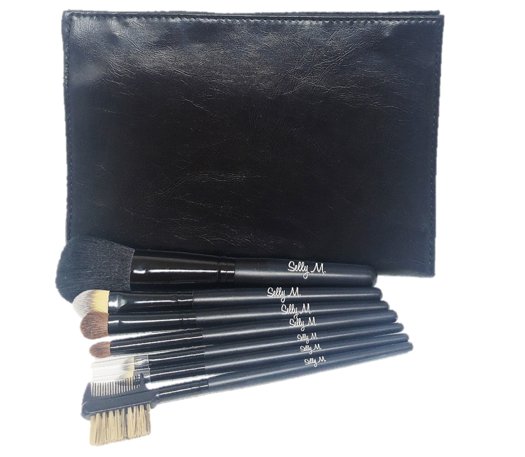 Travel Black Brush Set