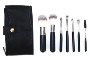 Personalized Vegan Travel Black Makeup Brush Set