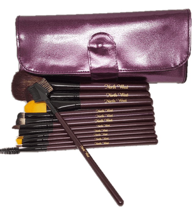 North West, Kim Kardashian - Personalized Makeup Brushes, Purple Set