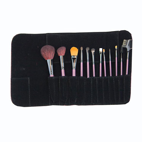 Personalized Purple Makeup Brush Set