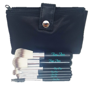 Travel Vegan Black Brush Set