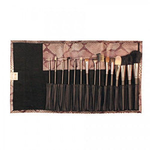 Custom Engraved Bronze Snake Skin Brush Set