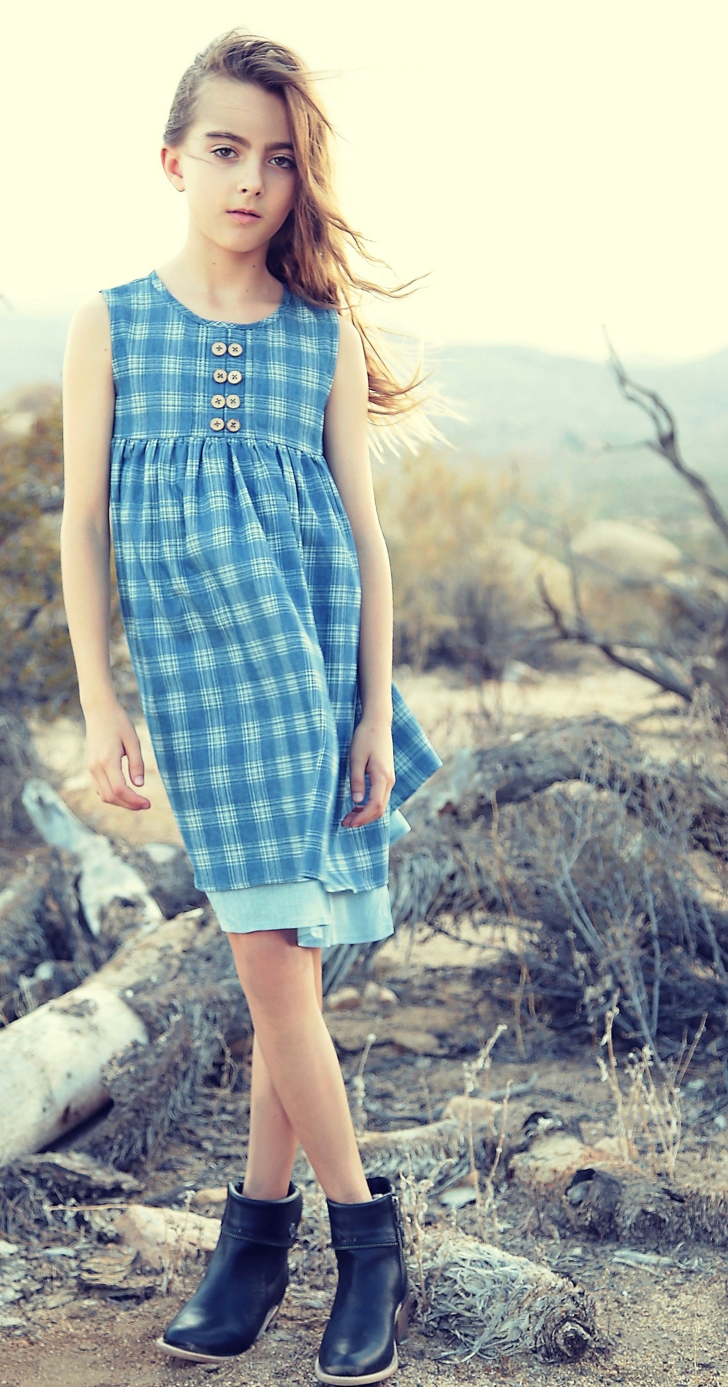 Emma dress in big sky check