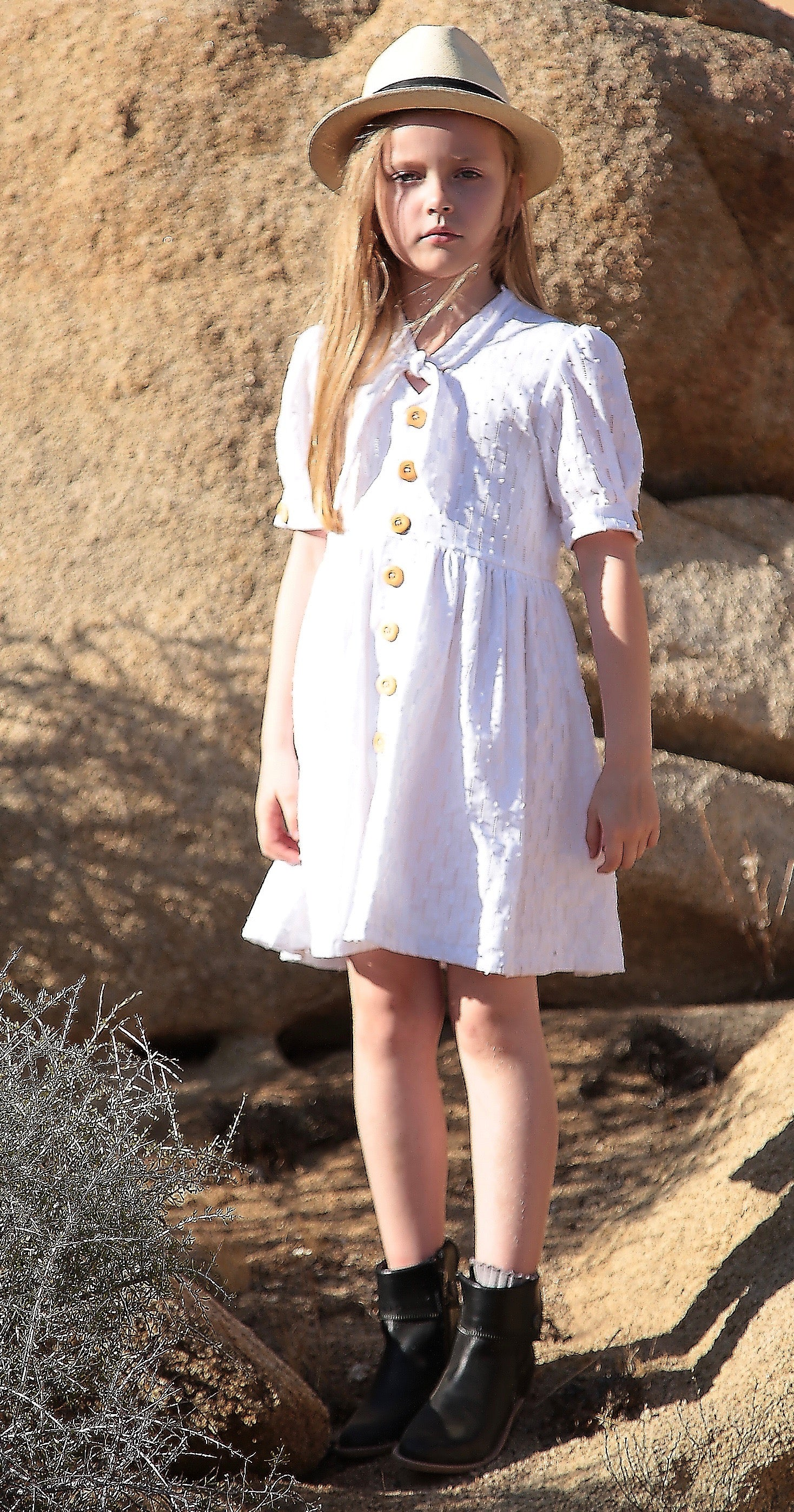 Annette dress in Summer White
