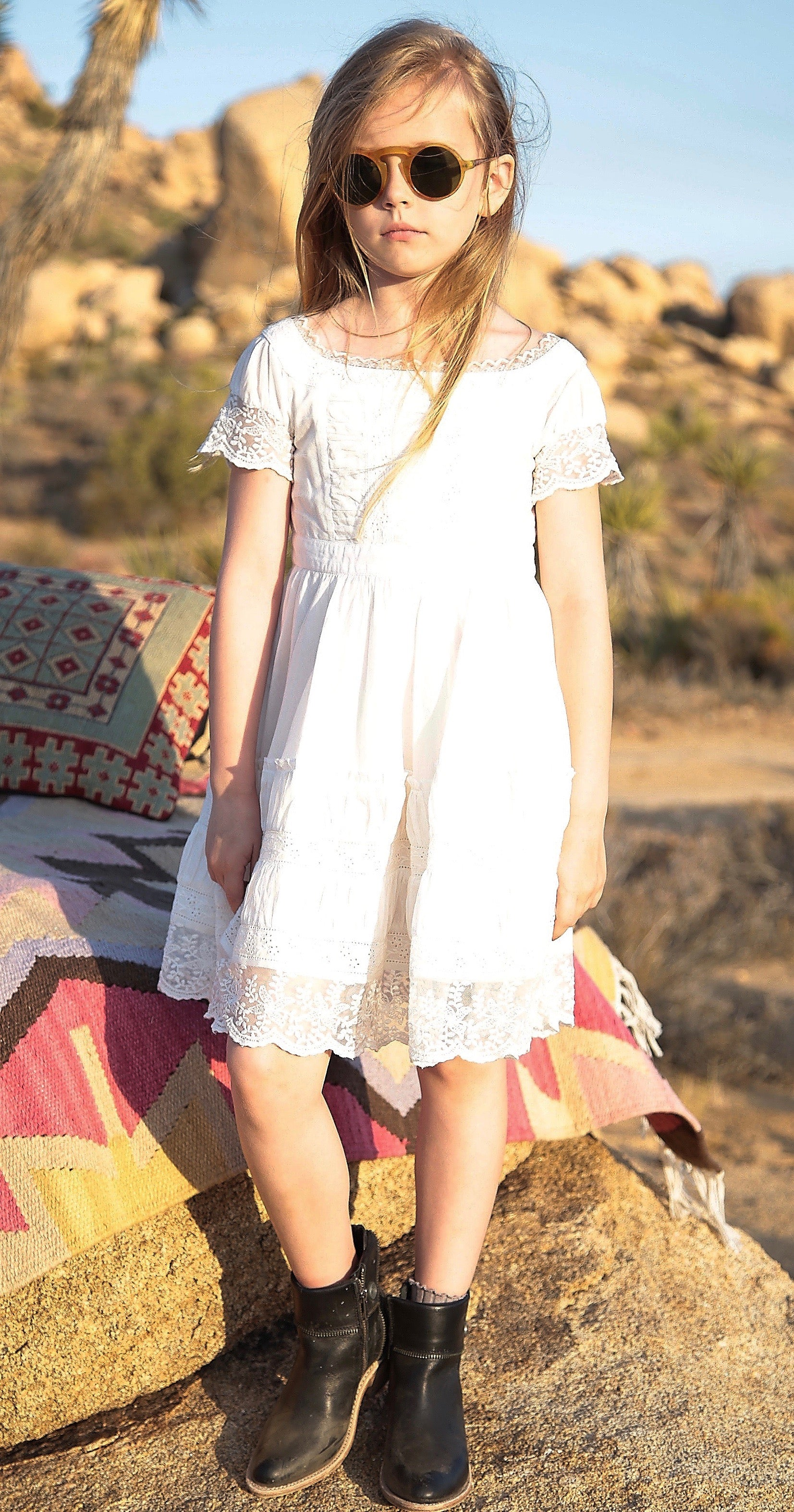 Simone dress in summer white