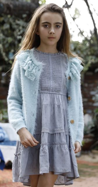 Hello Heidi sweater in glacier blue
