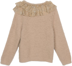 Hello Heidi sweater in winter straw