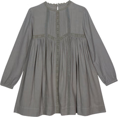 Cate boho dress in harbor gray