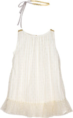 Nettie party dress in paperwhite