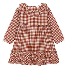 Greta dress in gingerbread