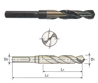 "41//64/"" Black /& Gold 1//2/""Shank Silver /& Deming Drill 118°Split Point YG1 D1191041"