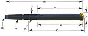 P03052 39/64-11/16 #2 SERIES 0.5 TAPER SHANK & STRAIGHT FLT STANDARD LENGTH SPADE DRILL HOLDER