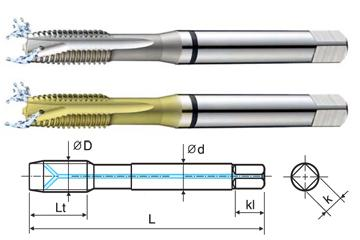 3//8-16 H5 3 Spiral Flute Mod//Bottoming HSS-EX Multi-Purpose Combo Tap TiCN