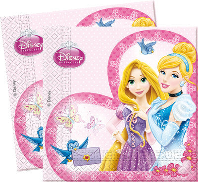 Disney 20 2-ply Paper Napkins 33x33cm PRINCESS BEAUTY
