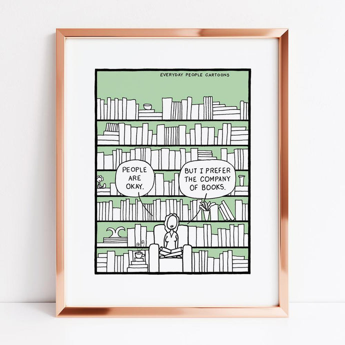 Books print, book lover, prints for book people