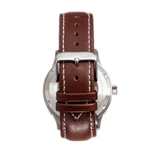 Load image into Gallery viewer, Heritor Automatic Oscar Semi-Skeleton Leather-Band Watch - Blue/Brown - HERHS1005
