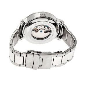 Heritor Automatic Aries Skeleton Dial Bracelet Watch - Silver/White - HERHR4401