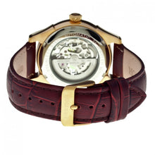 Load image into Gallery viewer, Heritor Automatic Nicollier Skeleton Leather-Band Watch - Gold/Brown - HERHR1904