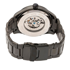 Heritor Automatic Crew Semi-Skeleton Bracelet Watch - Black/Charcoal - HERHR7009