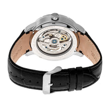 Load image into Gallery viewer, Heritor Automatic Ryder Skeleton Leather-Band Watch - Black - HERHR4602