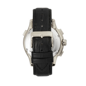 Heritor Automatic Hudson Semi-Skeleton Leather-Band Watch w/Day/Date - Black/White - HERHR7501
