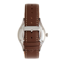 Load image into Gallery viewer, Heritor Automatic Antoine Semi-Skeleton Leather-Band Watch - Silver/Tan - HERHR8505