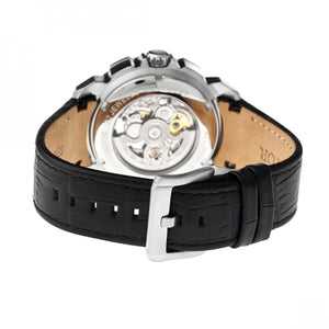 Heritor Automatic Conrad Skeleton Bracelet Watch - Silver/Black - HERHR2503