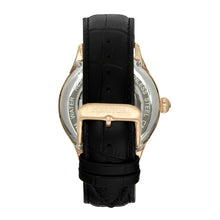 Load image into Gallery viewer, Heritor Automatic Hayward Semi-Skeleton Leather-Band Watch - Gold/Black - HERHR9404