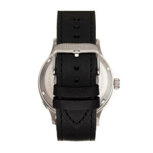 Heritor Automatic Becker Leather-Band Watch w/Date - Silver/Charcoal - HERHR9604